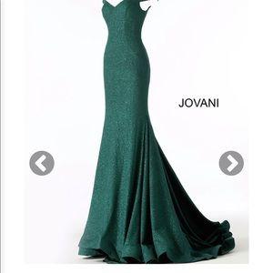 Jovani Hunter Green Formal Dress